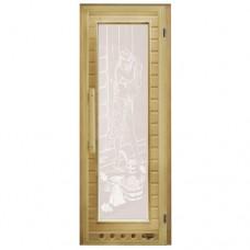 """Дверь липа """"Элит"""" прямоугольное стекло"""