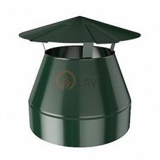Оголовок-зонт 130/200 мм. зеленый (6005)