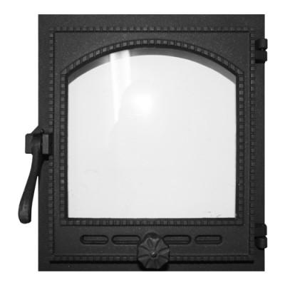 Дверка топочная, герметичная, застеклённая  К404