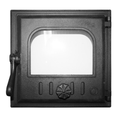 Дверка топочная К401 герметичная, застеклённая