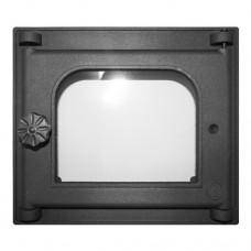 Дверка К301 топочная, на петлях, застеклённая
